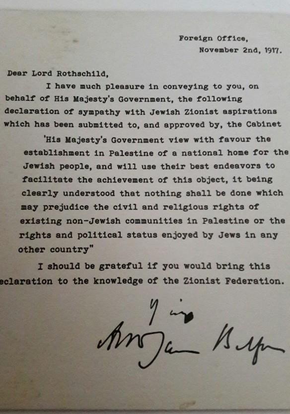 Balfour letter
